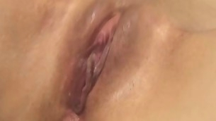 Beauty with succulent pussy feels fat rod drilling her wet hole